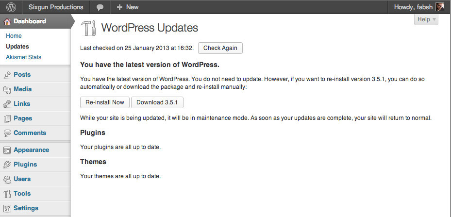 WordPress 3Wor.5.1