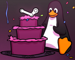 Steam on Linux celebration