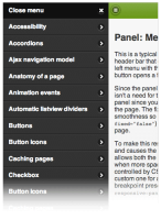 jQuery Mobile Panels