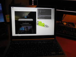 The Chromebook Pixel running Linux Mint