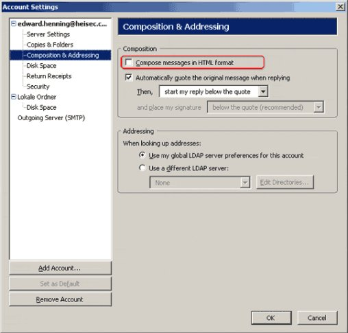 How to adjust the security settings of Thunderbird - The H